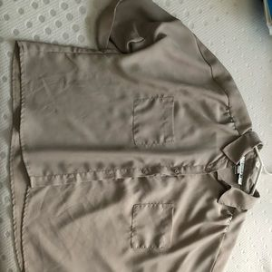 Forever 21 Tan Button-Up Blouse